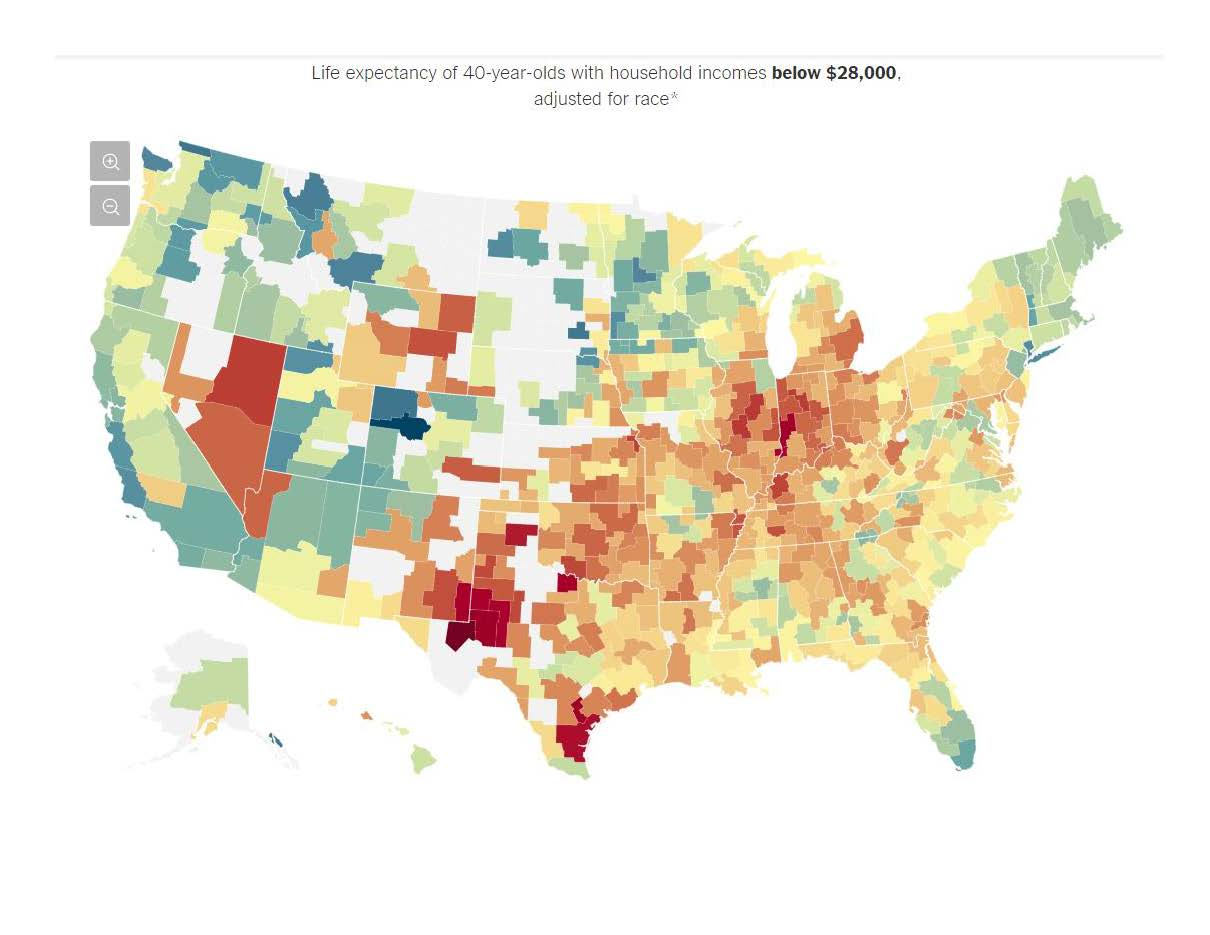 The Rich Live Longer Everywhere. For the Poor, Geography Matters.